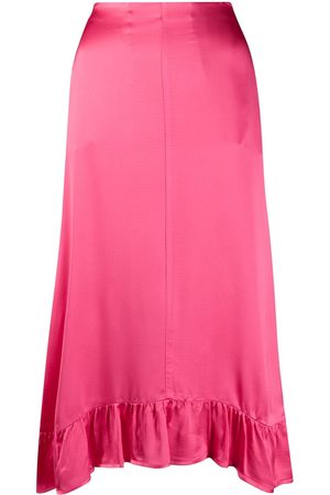 SEMICOUTURE Ruffle trimmed midi skirt