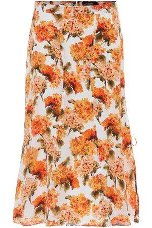 Altuzarra Exclusivo en Mytheresa – falda midi de tiro alto May de seda floral