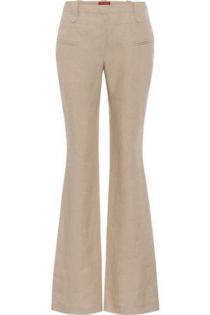 Altuzarra Exclusivo en Mytheresa – pantalones flared Serge de lino