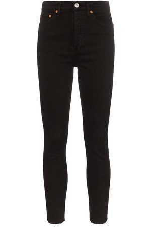 RE/DONE Mujer Cintura alta - Cropped high-rise skinny jeans