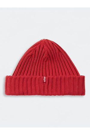 Levi's Hombre Gorros - Ribbed Beanie / Brilliant Red