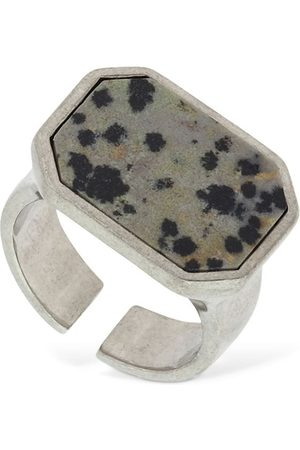 "Isabel Marant | Mujer Anillo ""golden Mother"" Cuadrado /silver Xs"