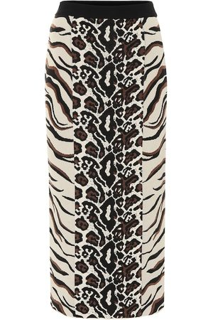 Stella McCartney Exclusivo en Mytheresa – falda midi de jacquard animal