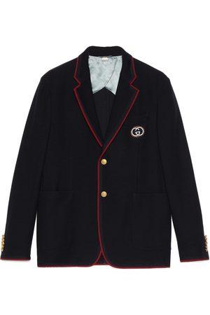 Gucci Chaqueta Palma de algodón y lana con parche