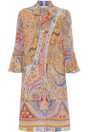 Etro Mujer Estampados - Vestido corto de algodón estampado