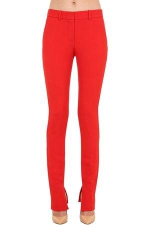 VICTORIA BECKHAM | Mujer Pantalones De Sarga De Viscosa Stretch 8