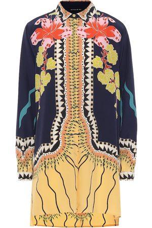 Etro Blusa de seda estampada