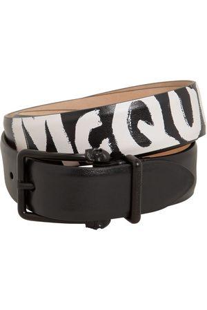 Alexander McQueen | Hombre Cinturón De Piel Reversible Con Logo 4cm 90
