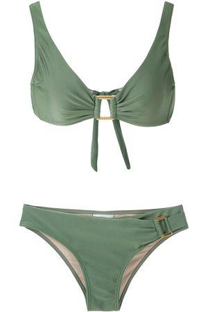 AMIR SLAMA Mujer Bikinis - Bikini con apliques metálicos
