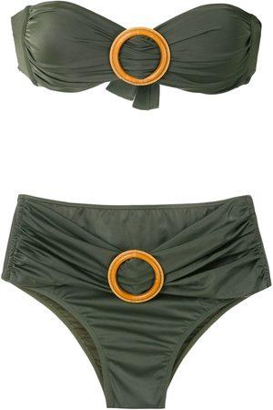 Brigitte Bikini bandeau con detalle de hebilla