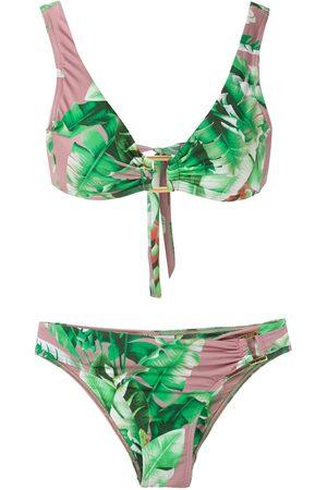 AMIR SLAMA Bikini con estampado floral