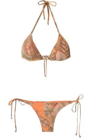 AMIR SLAMA Bikini triangular estampado