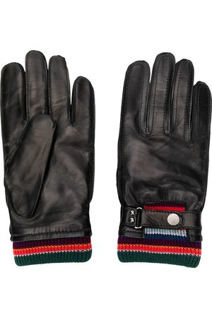 Paul Smith Guantes con detalle de rayas