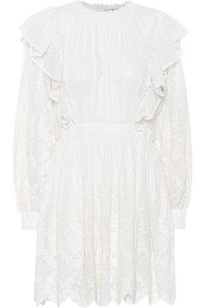 ULLA JOHNSON Vestido corto Dorithie de algodón