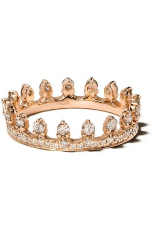 ANNOUSHKA Anillo Crown en oro rosa de 18kt con diamante