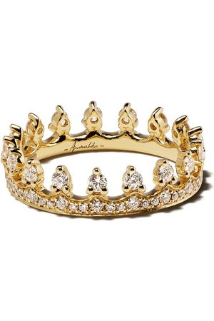ANNOUSHKA Anillo Crown en oro amarillo de 18kt con diamante