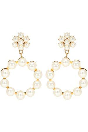 Jennifer Behr Aretes Leilani con perlas