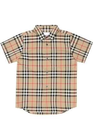 Burberry Camisa de algodón de cuadros