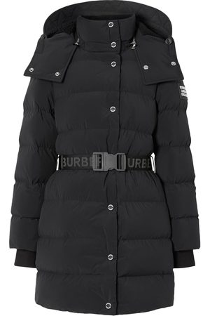 Burberry Detachable Hood Belted Puffer Coat