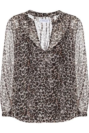Velvet Blusa con estampado de leopardo