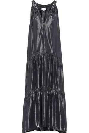 Velvet Vestido midi Jorja metalizado