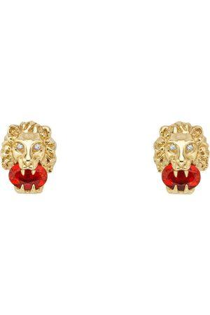 Gucci Pendientes - Pendientes de oro amarillo con cabeza de león