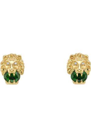 Gucci Pendientes de oro amarillo con cabeza de león