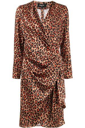 Paule Ka Vestido cruzado con motivo de leopardo
