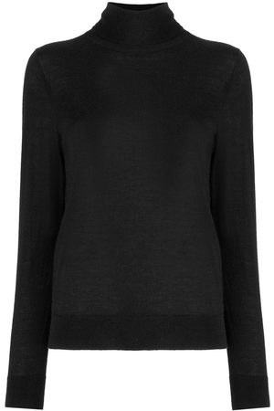 N.PEAL 007 Superfine Roll Neck Sweater Black