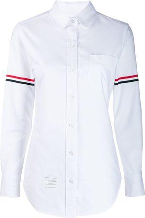 Thom Browne Mujer Camisas - Camisa oxford con rayas de grosgrain en las mangas