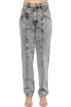 Isabel Marant   Mujer Jeans De Denim De Algodón Con Cintura Alta 34