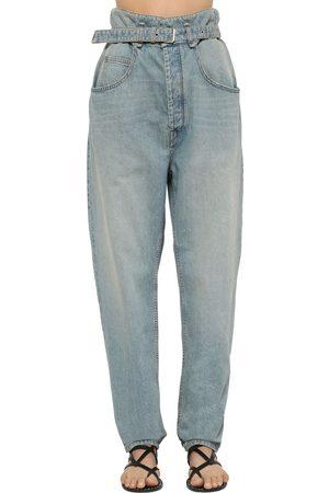 Isabel Marant | Mujer Jeans De Denim Con Cinturón Y Cintura Alta 34