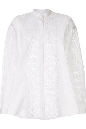 Giambattista Valli Appliqué band-collar blouse