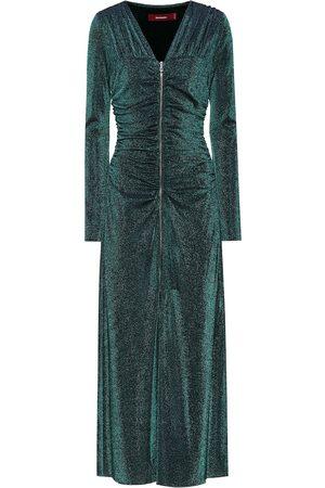 Sies marjan Vestido midi Jade metalizado