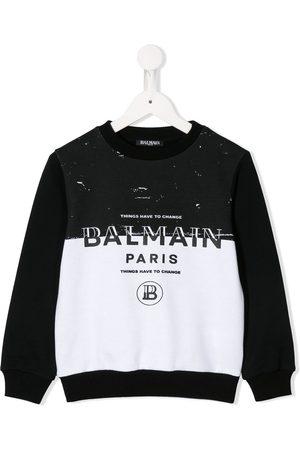 Balmain Kids Contrasting sweatshirt