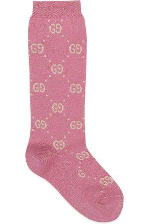 Gucci Niña Calcetines - Calcetín infantil de lamé y algodón con GG