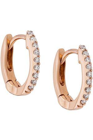 Dana Rebecca Designs Pendientes DRD Huggies en oro rosa 14kt y diamantes