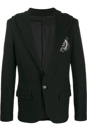 Balmain Blazer con parche del logo y capucha