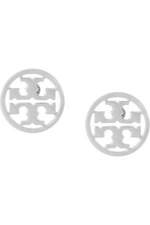 Tory Burch Pendientes circulares con logo