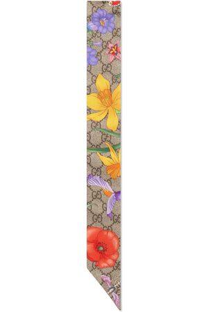 Gucci Mujer Bufandas y Pañuelos - Lazo de seda con estampado GG Flora