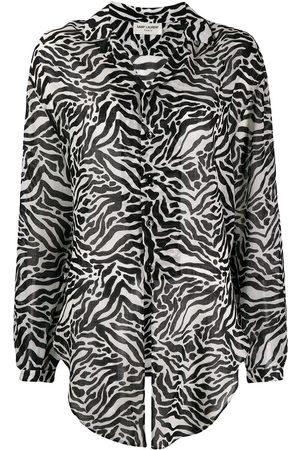 Saint Laurent Camisa con animal print