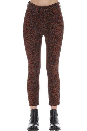 "The People Vs   Mujer Jeans ""bonnie"" Denim De Algodón Estampado Leopardo 6"