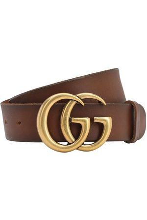 Gucci | Mujer Cinturón De Piel Con Hebilla Gg 40mm 70