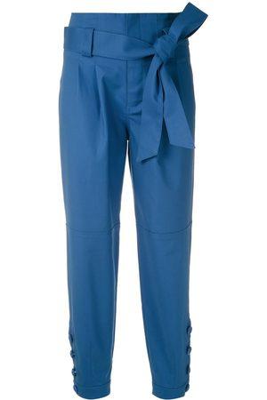 MARTHA MEDEIROS Pantalones con pliegues y cintura lazada