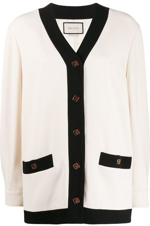 Gucci Oversized contrasting trim cardigan