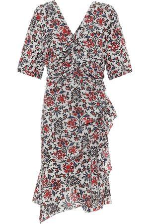 Isabel Marant Vestido corto Arodie de seda floral