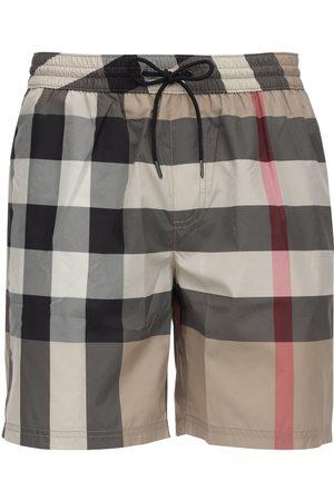 Burberry   Hombre Bañador Shorts De Tejido Techno A Cuadros Xs