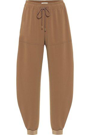 Chloé Pantalones de chándal de crepé