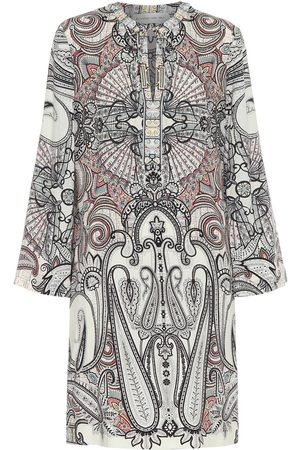 Etro Vestido corto de lana y seda