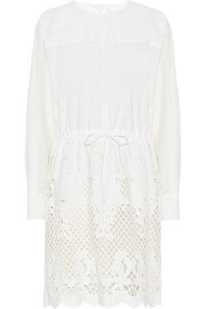 See by Chloé Vestido corto de algodón bordado